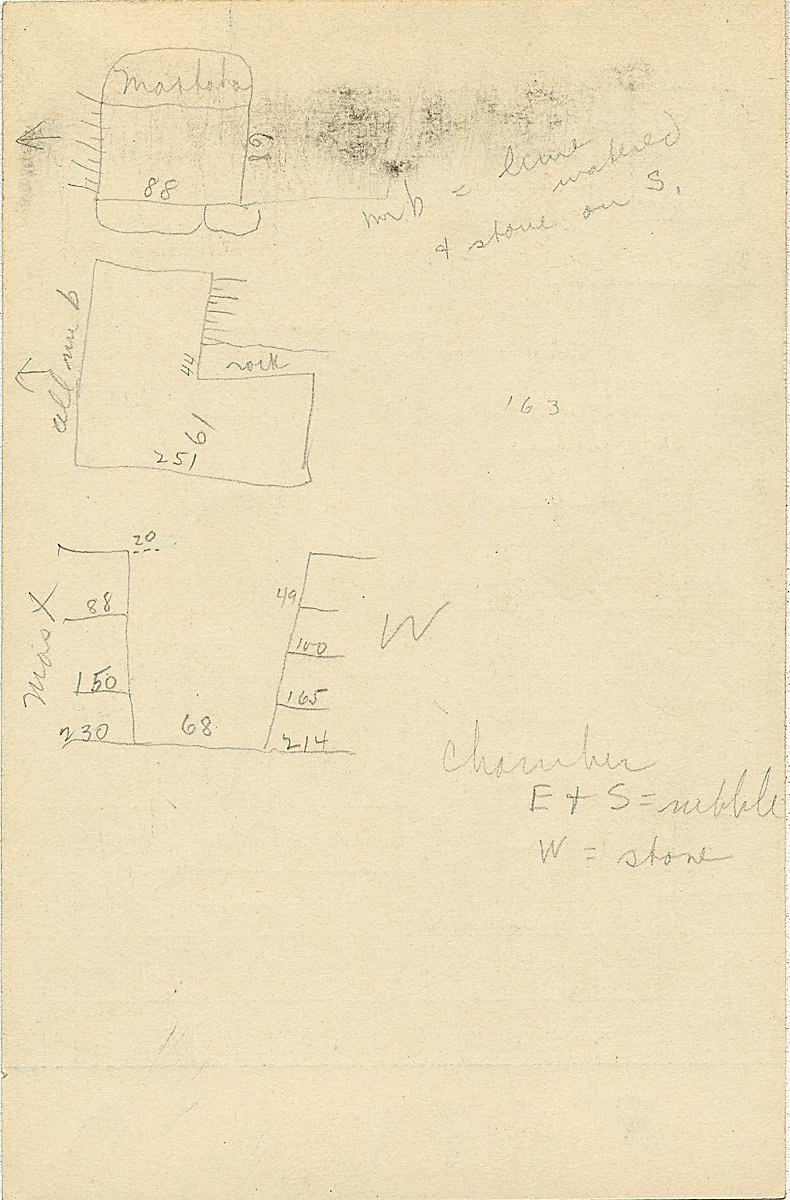 Maps and plans: G 2335, Shaft X, notes
