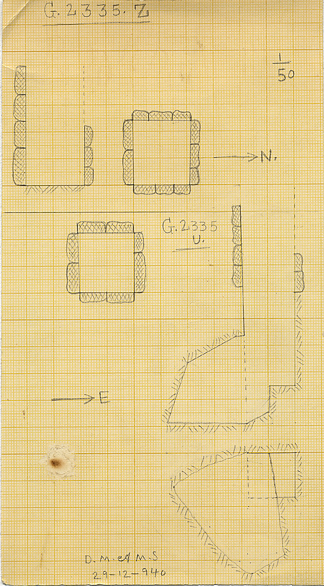 Maps and plans: G 2335, Shaft U and Z