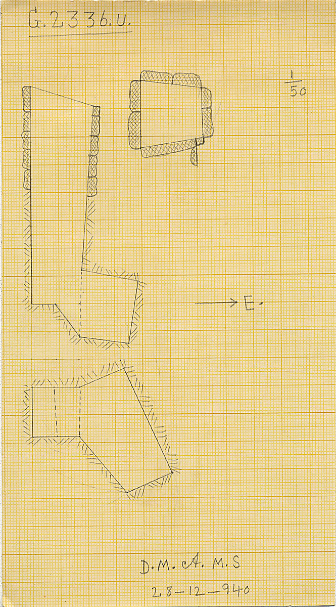 Maps and plans: G 2336, Shaft U