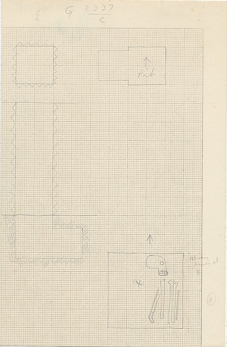 Maps and plans: G 2337, Shaft C