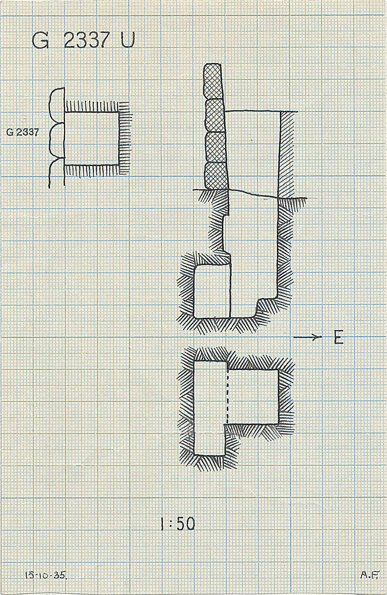 Maps and plans: G 2337, Shaft U