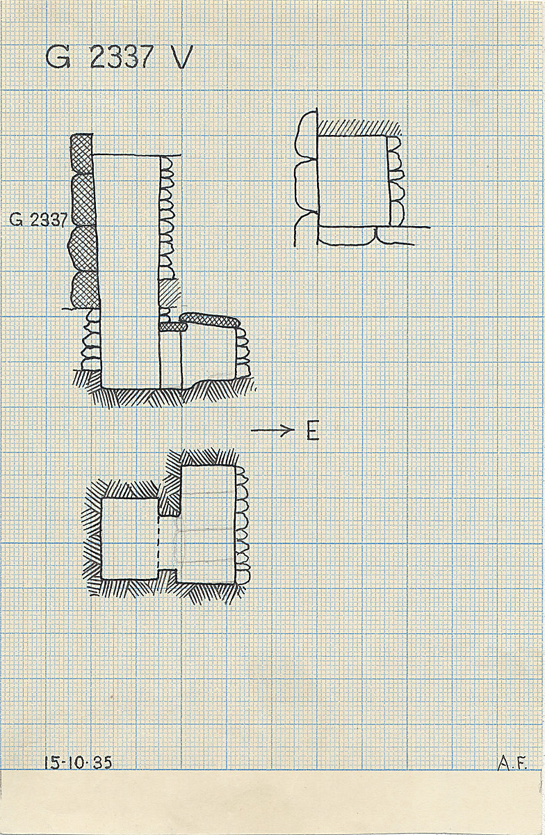 Maps and plans: G 2337, Shaft V