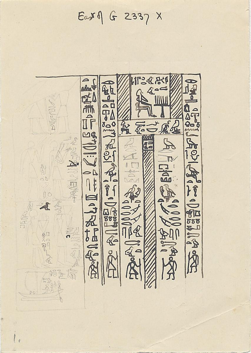 Maps and plans: G 2343 = G 5511, False door inscribed for Tjetu [II]