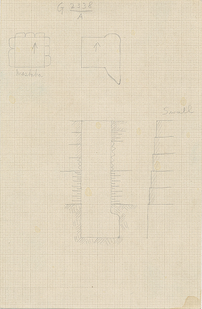 Maps and plans: G 2338, Shaft A