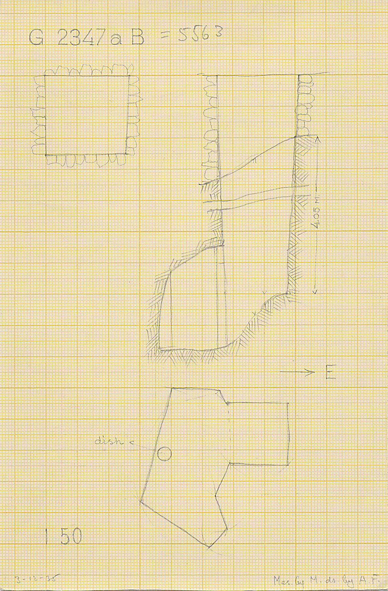 Maps and plans: G 2347a B = G 5563, Shaft B
