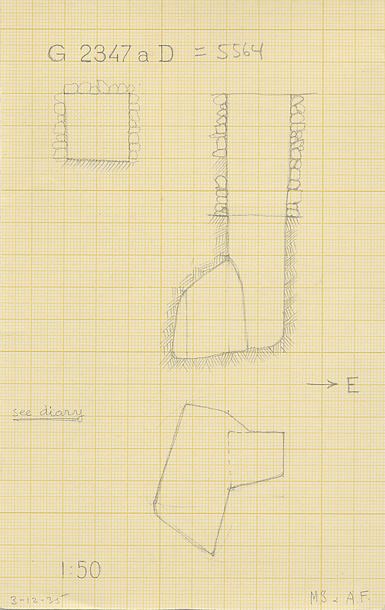 Maps and plans: G 2347a D = G 5564, Shaft B