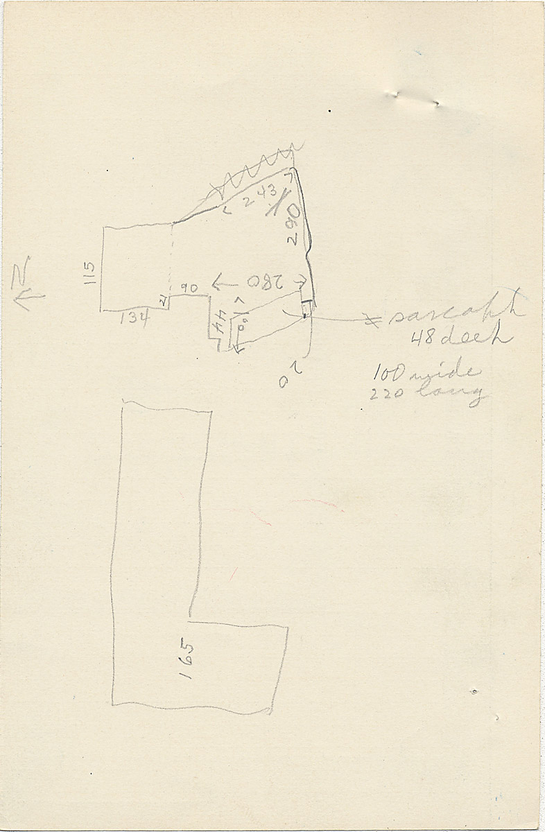 Maps and plans: G 2350 = G 5290, Shaft A, notes