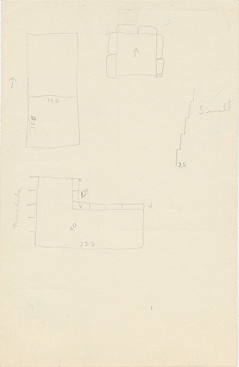 Maps and plans: G 2350 = G 5290, Shaft R, notes