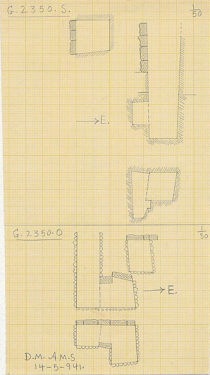 Maps and plans: G 2350 = G 5290, Shaft O and S