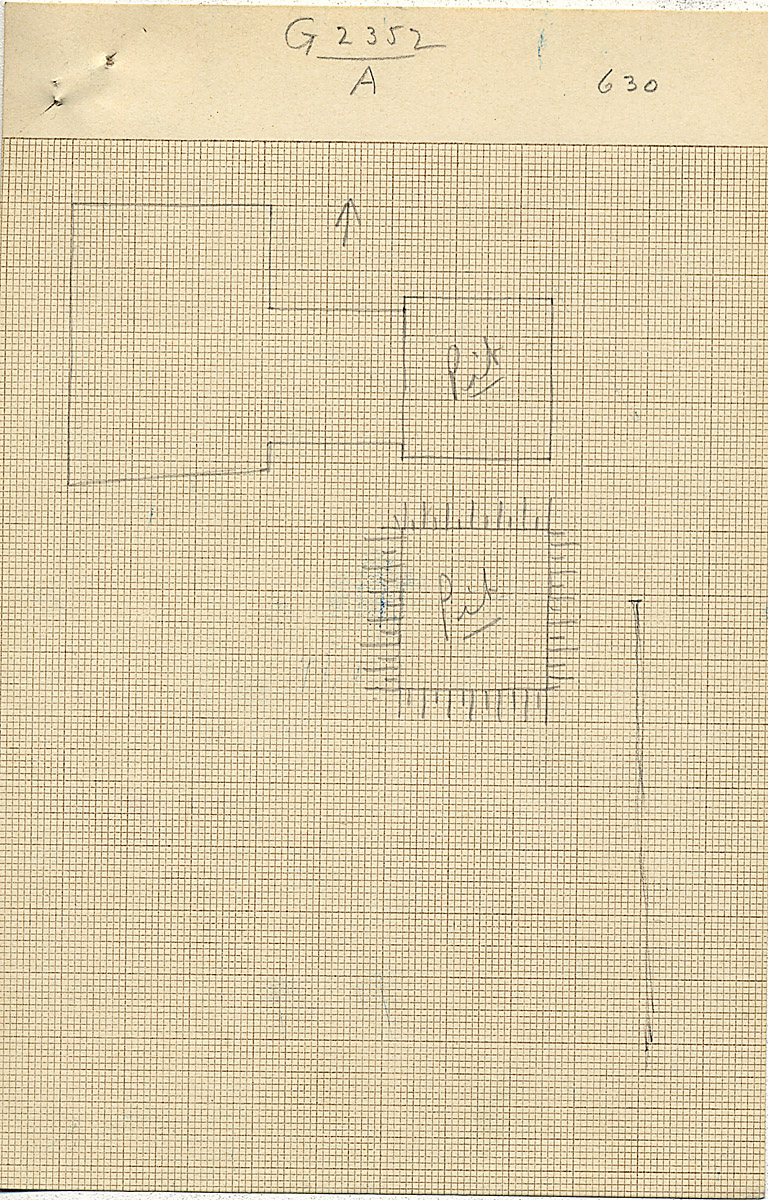Maps and plans: G 2352, Shaft A