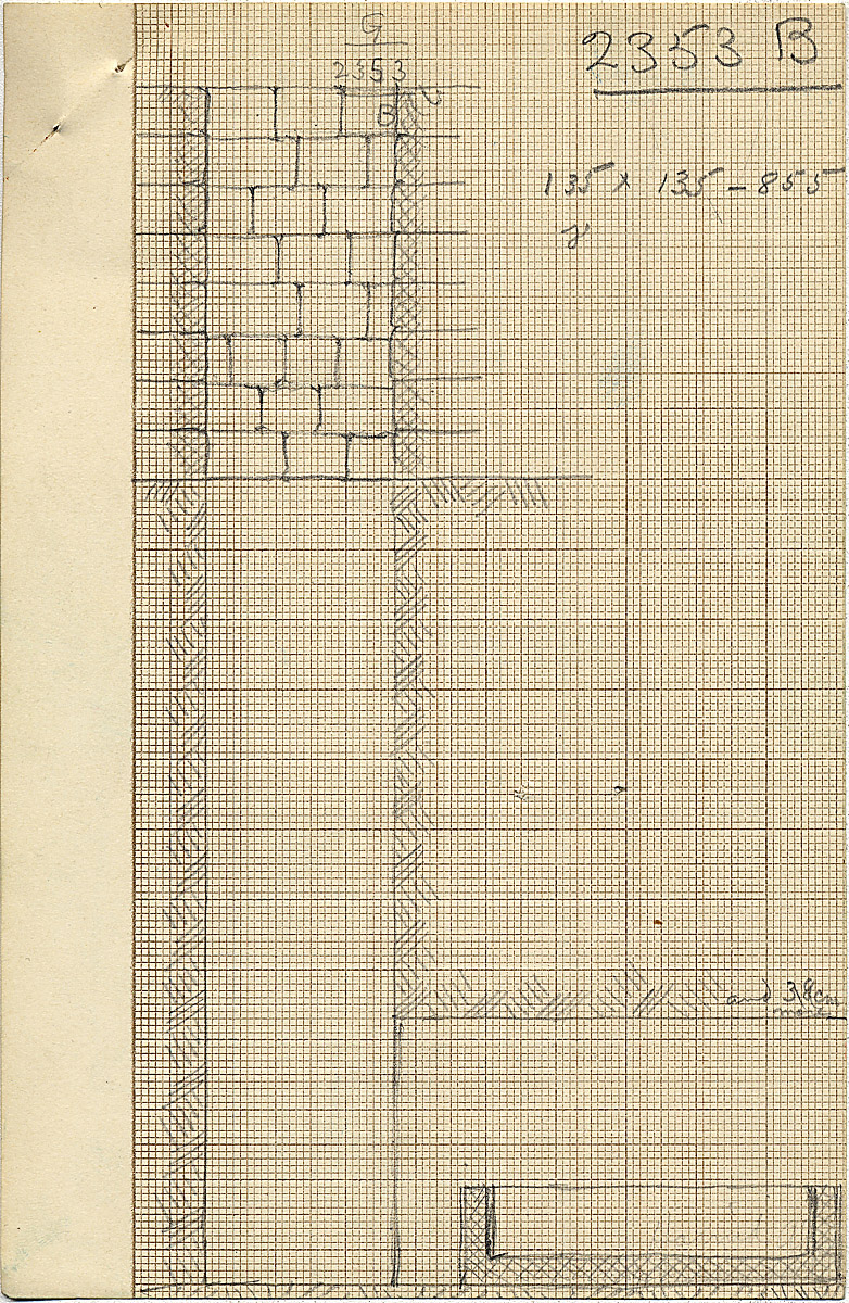 Maps and plans: G 2353, Shaft B