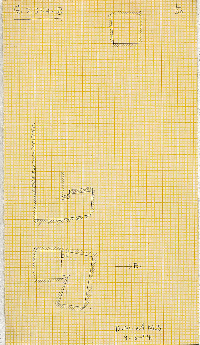 Maps and plans: G 2354, Shaft B