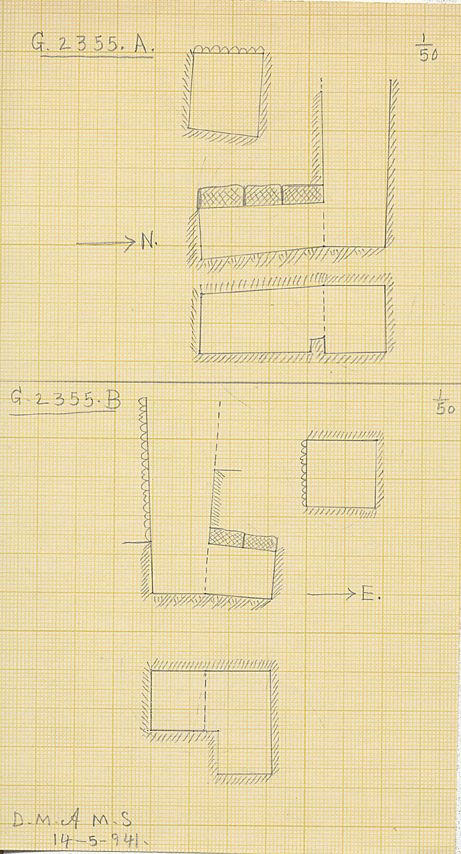 Maps and plans: G 2355, Shaft A and B