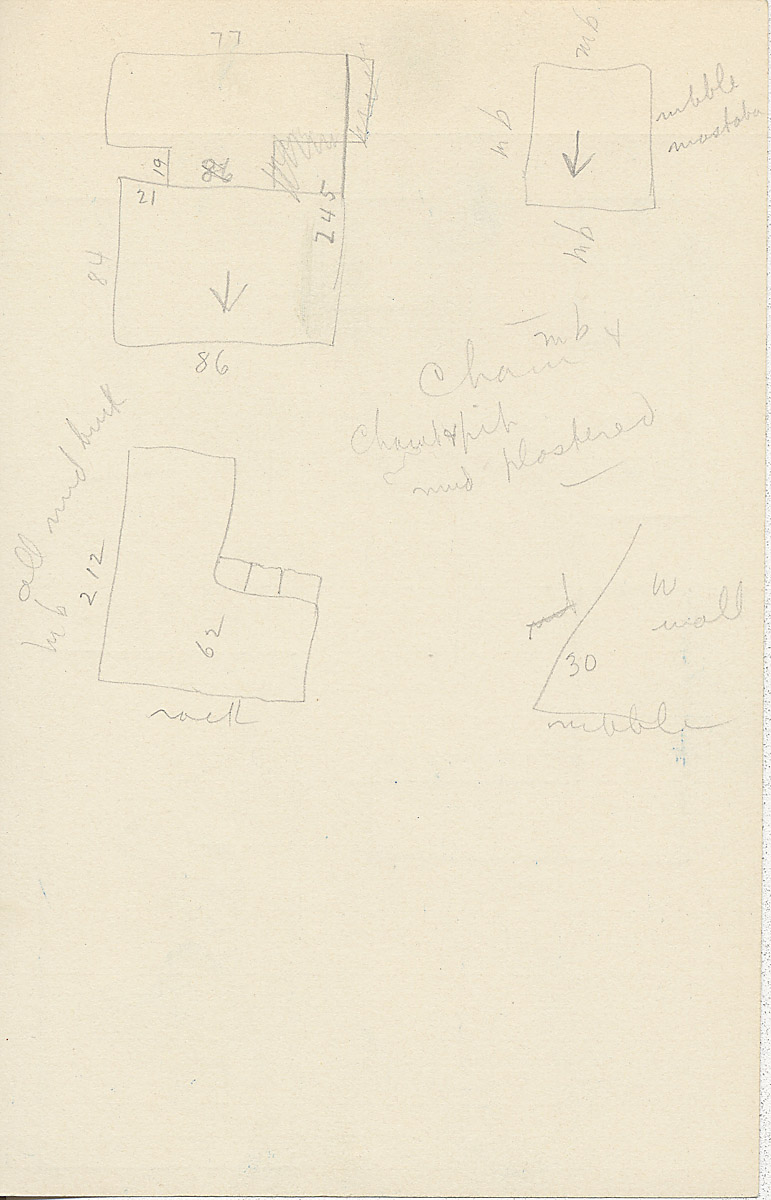 Maps and plans: G 2355, Shaft A, notes