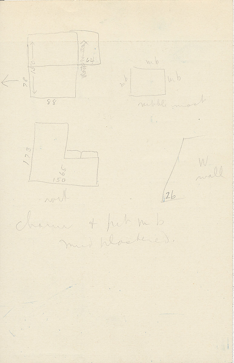 Maps and plans: G 2355, Shaft B, notes