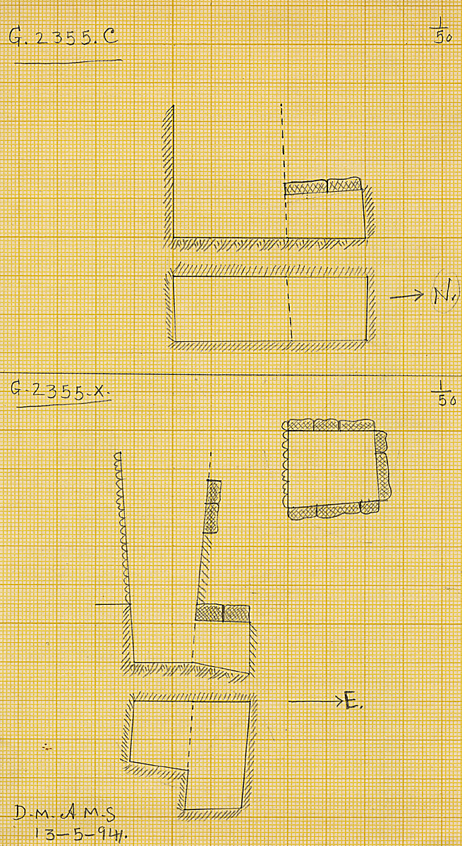 Maps and plans: G 2355, Shaft C and X