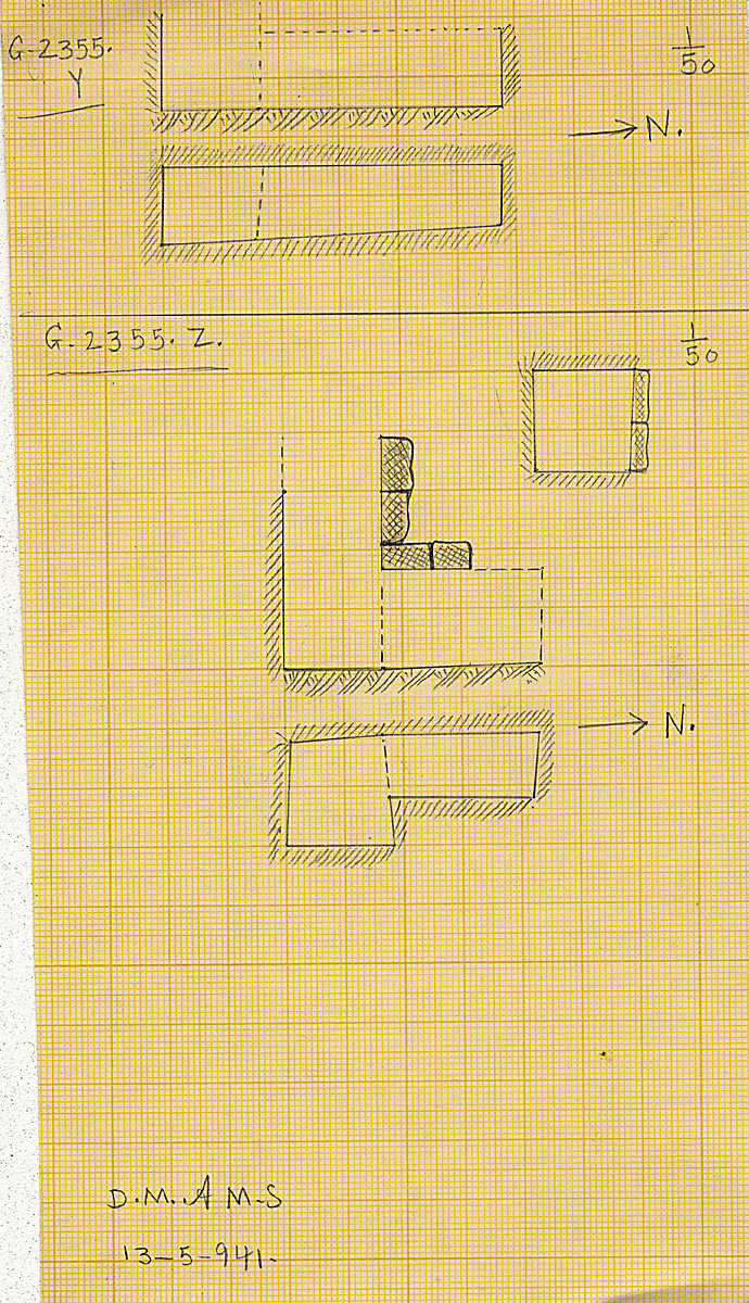 Maps and plans: G 2355, Shaft Y and Z