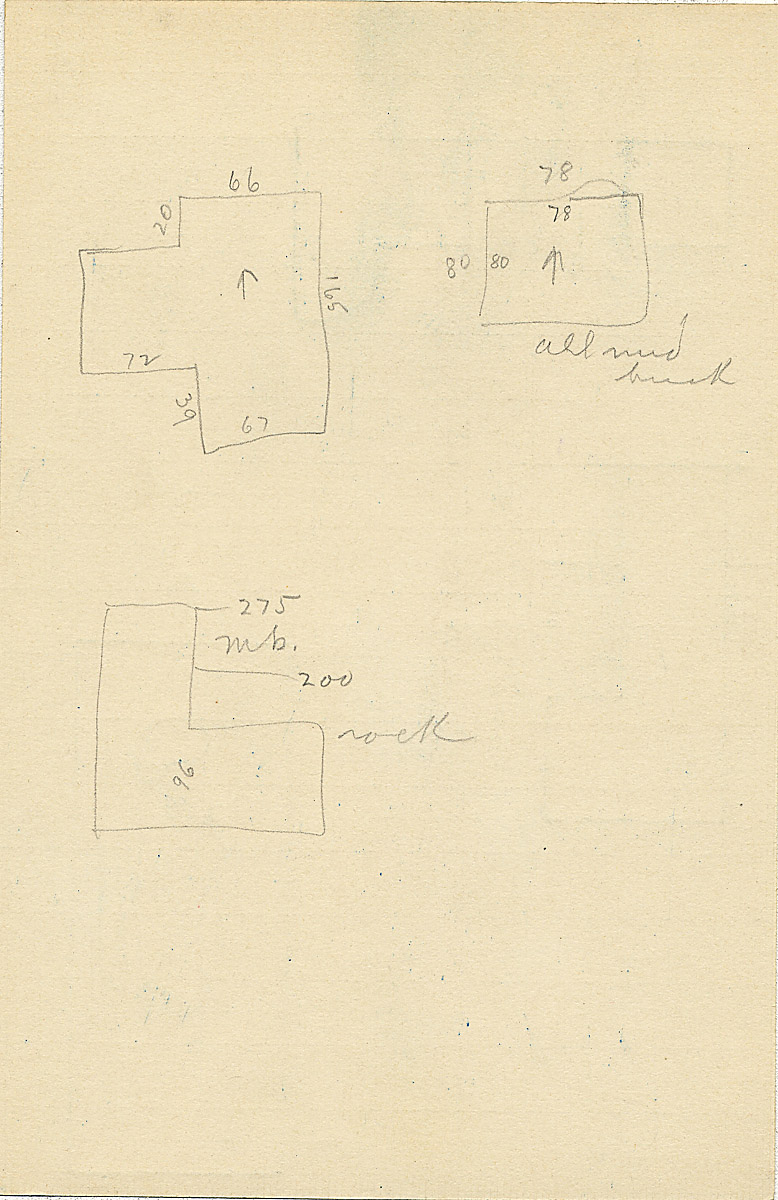 Maps and plans: G 2361, Shaft Y, notes