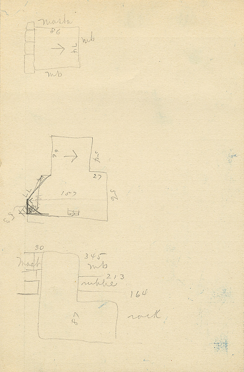 Maps and plans: G 2363, Shaft A, notes