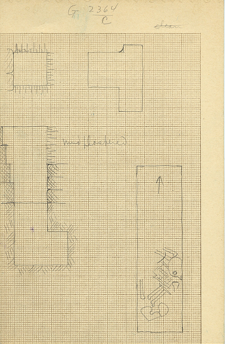 Maps and plans: G 2364, Shaft C