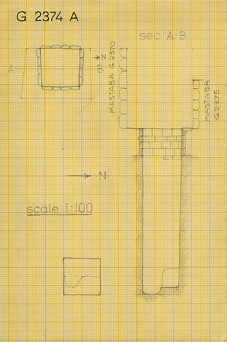 Maps and plans: G 2374, Shaft A