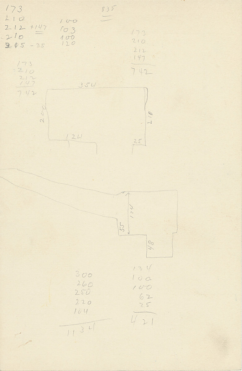 Maps and plans: G 2381, Shaft A, notes