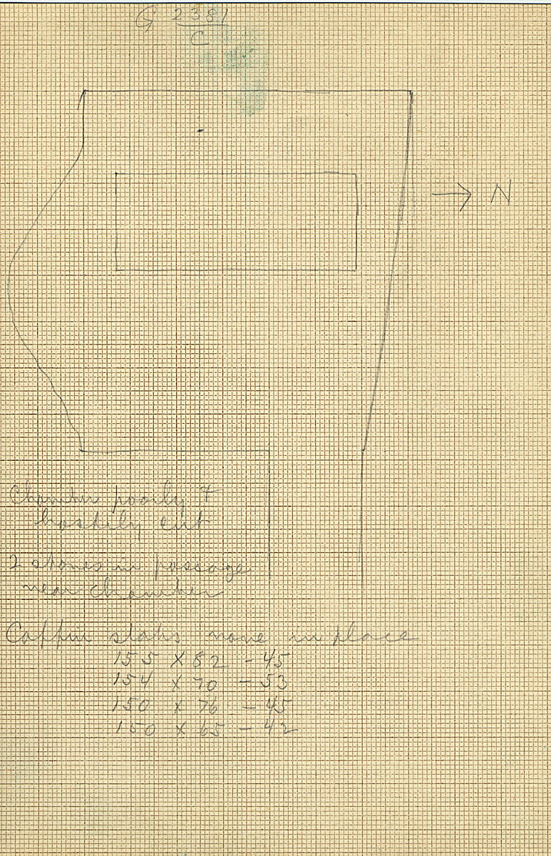 Maps and plans: G 2381, Shaft C