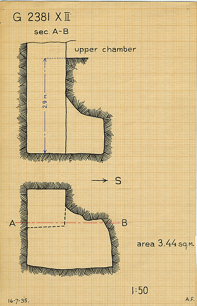 Maps and plans: G 2381, Shaft X (II)