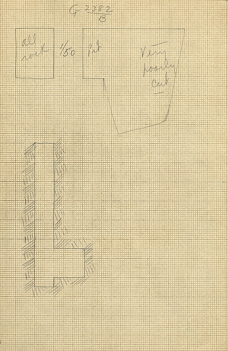 Maps and plans: G 2382, Shaft B