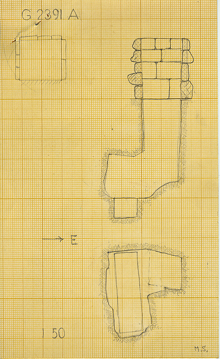 Maps and plans: G 2391, Shaft A