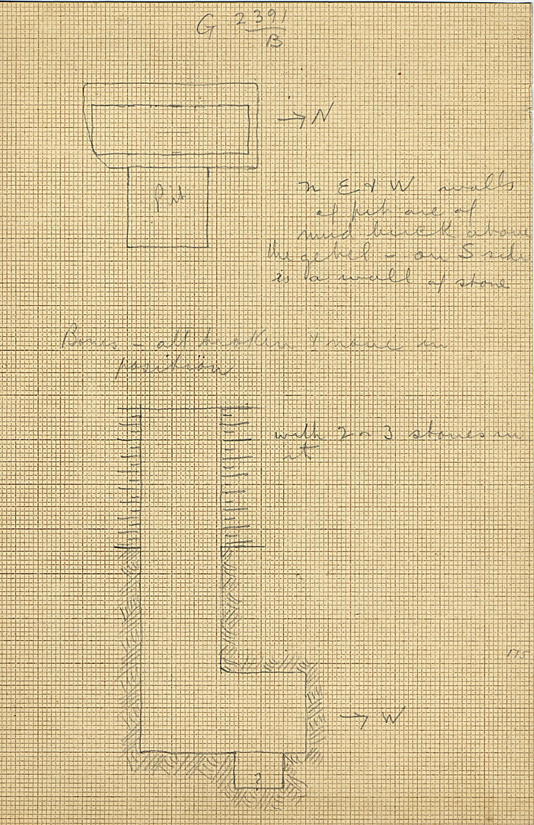 Maps and plans: G 2391, Shaft B