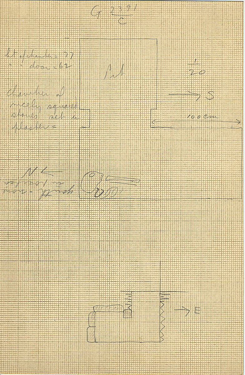 Maps and plans: G 2391, Shaft C