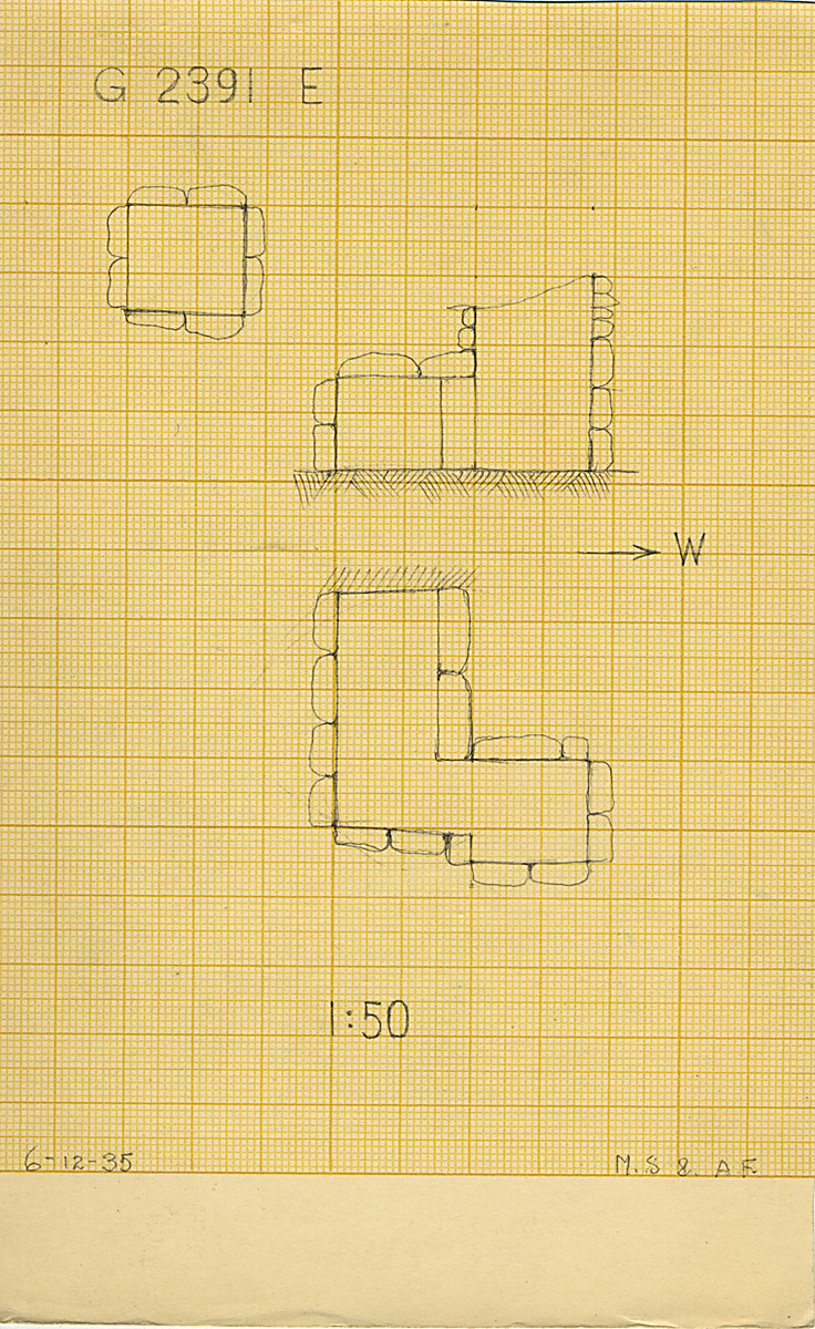 Maps and plans: G 2391, Shaft E