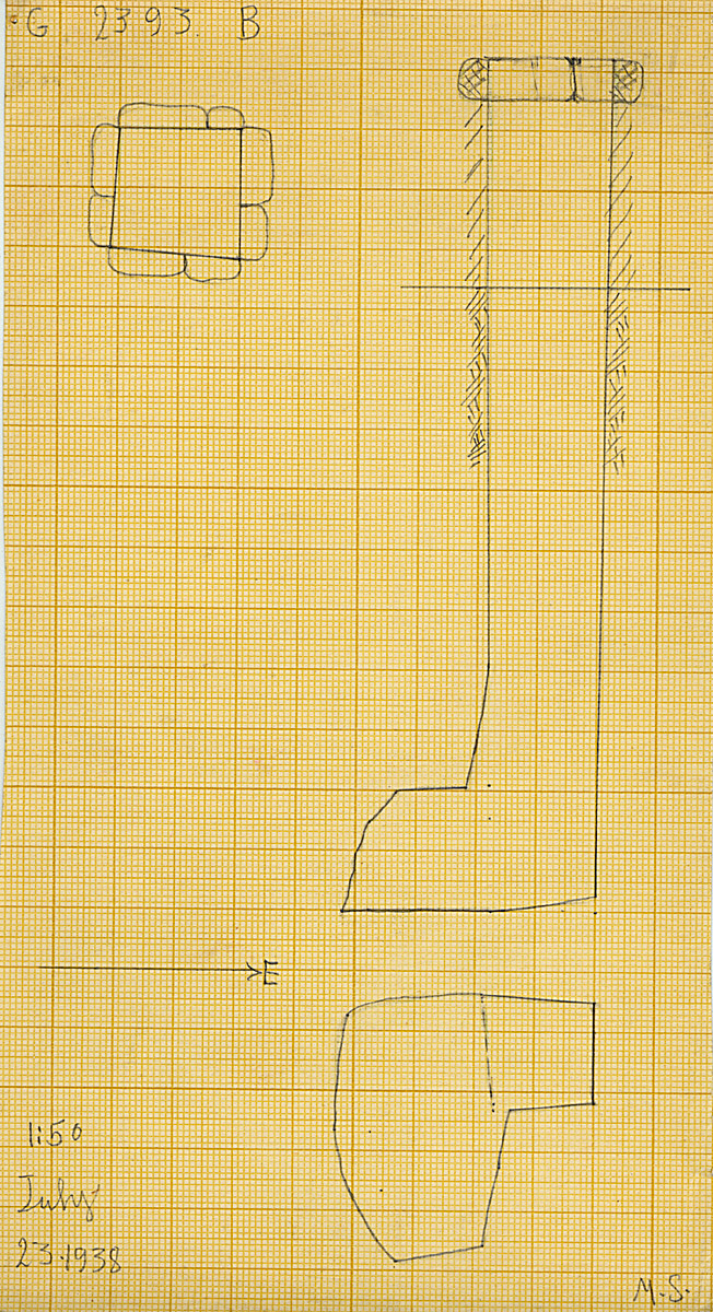 Maps and plans: G 2393, Shaft B