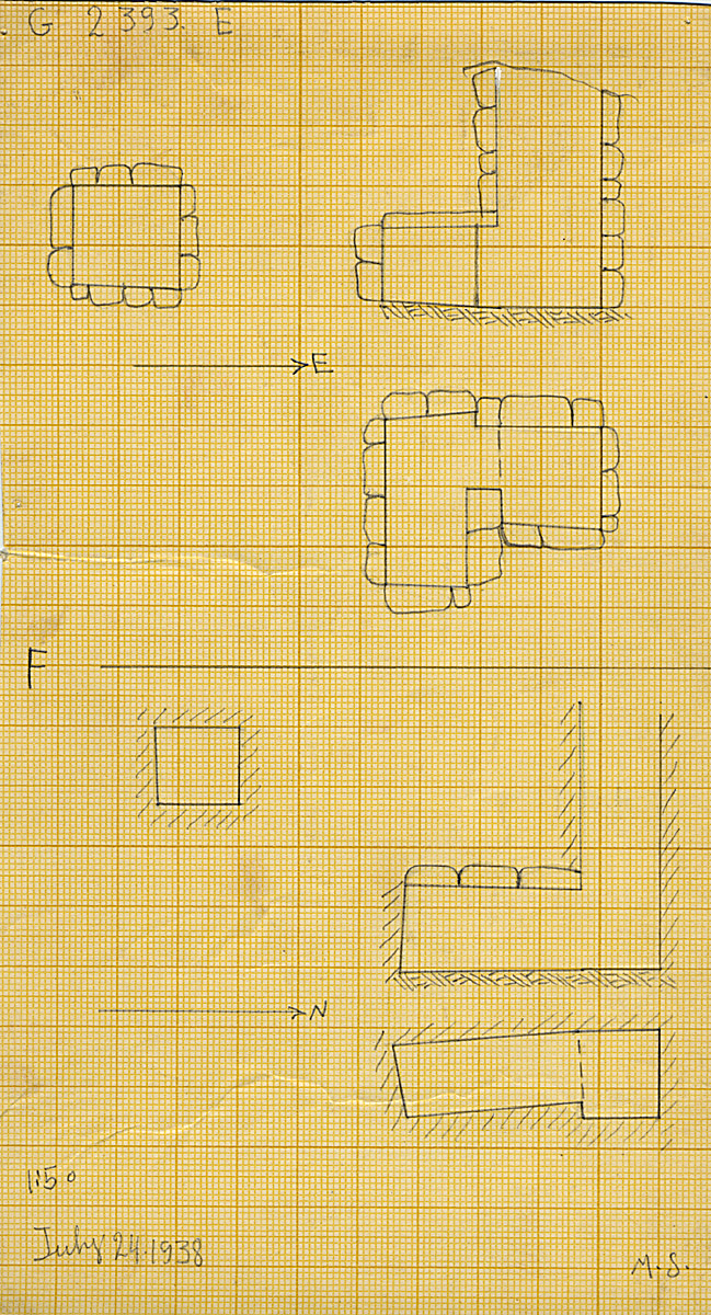 Maps and plans: G 2393, Shaft E and F