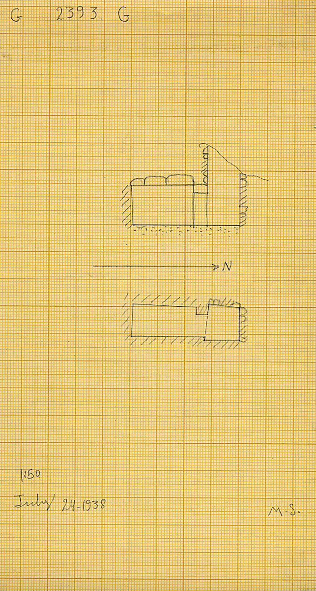 Maps and plans: G 2393, Shaft G