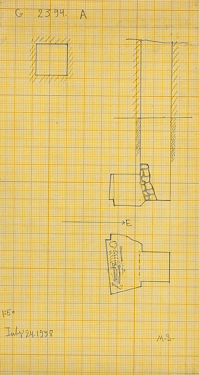 Maps and plans: G 2394, Shaft A
