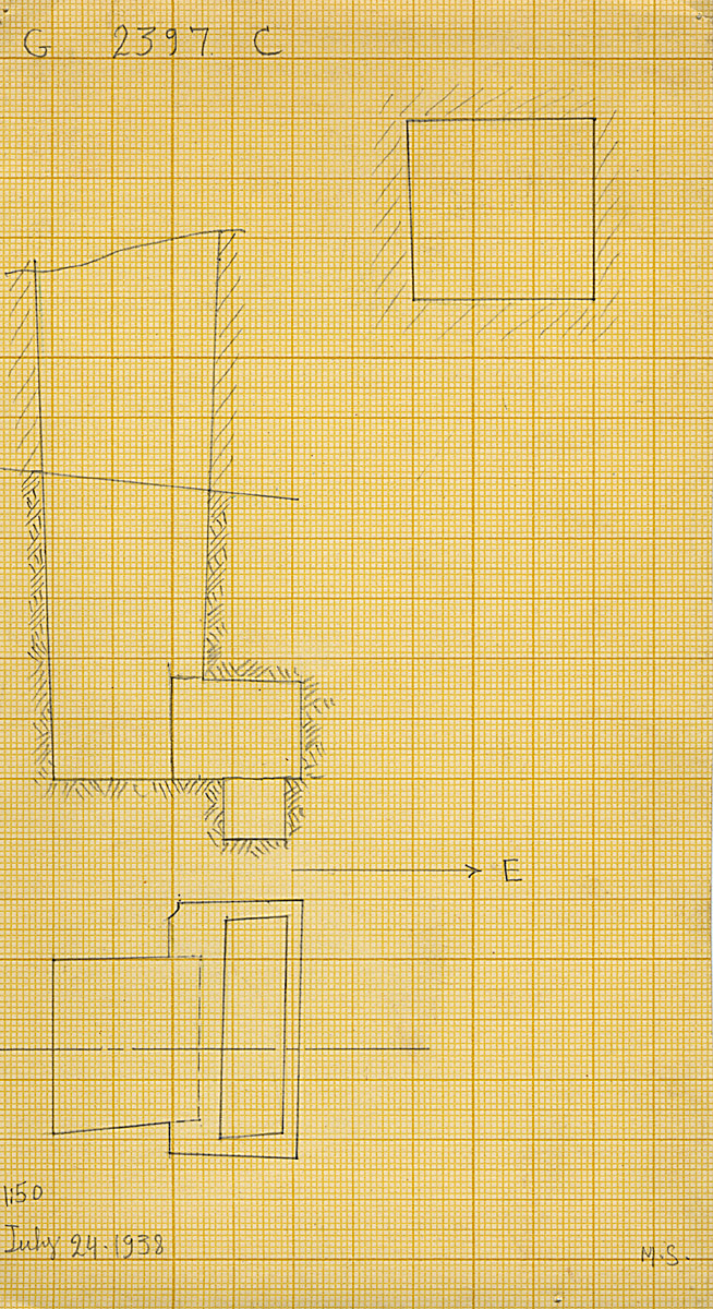 Maps and plans: G 2397, Shaft C