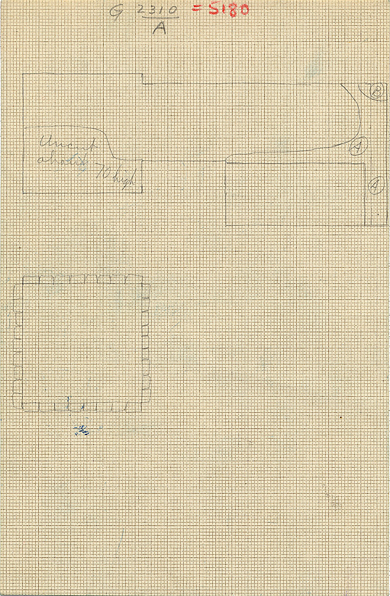Maps and plans: G 2310 = G 5180, Shaft B