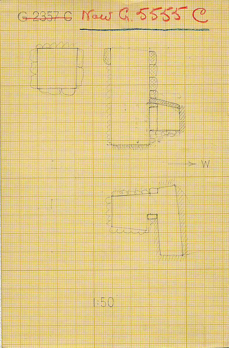 Maps and plans: G 2357 C = G 5555, Shaft C