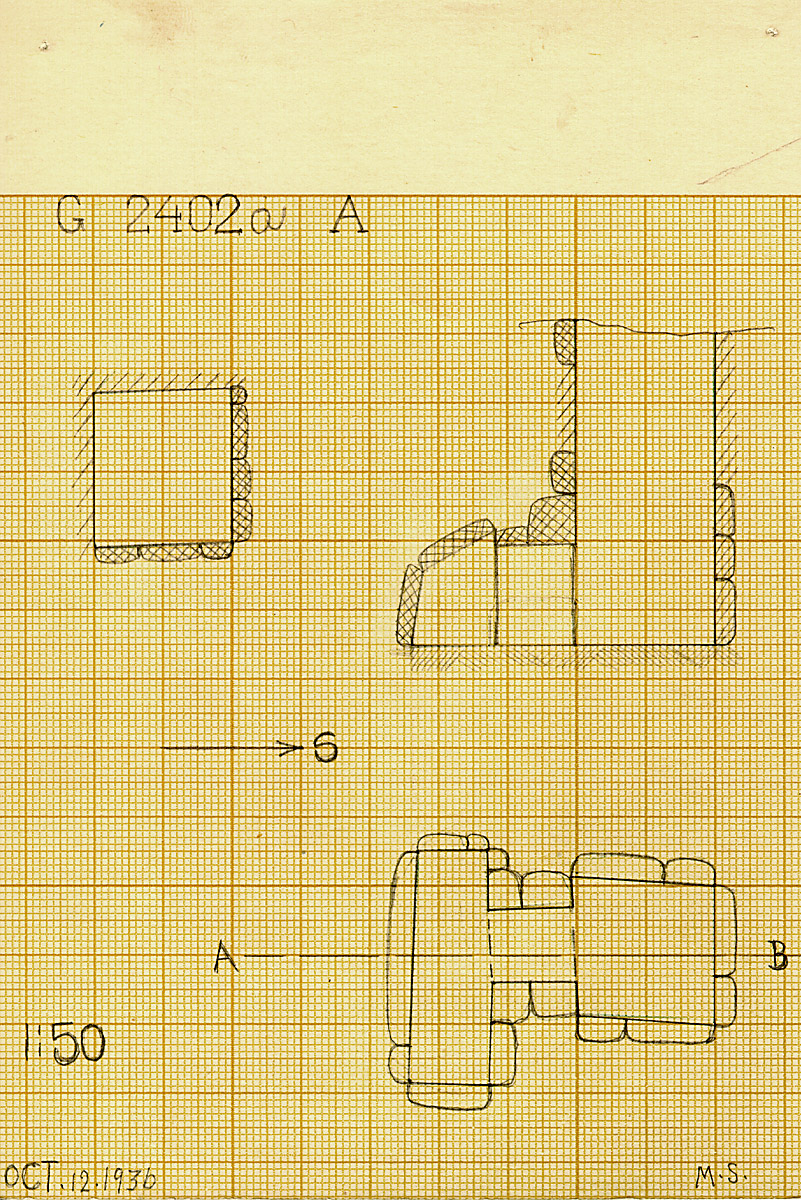 Maps and plans: G 2402a, Shaft A