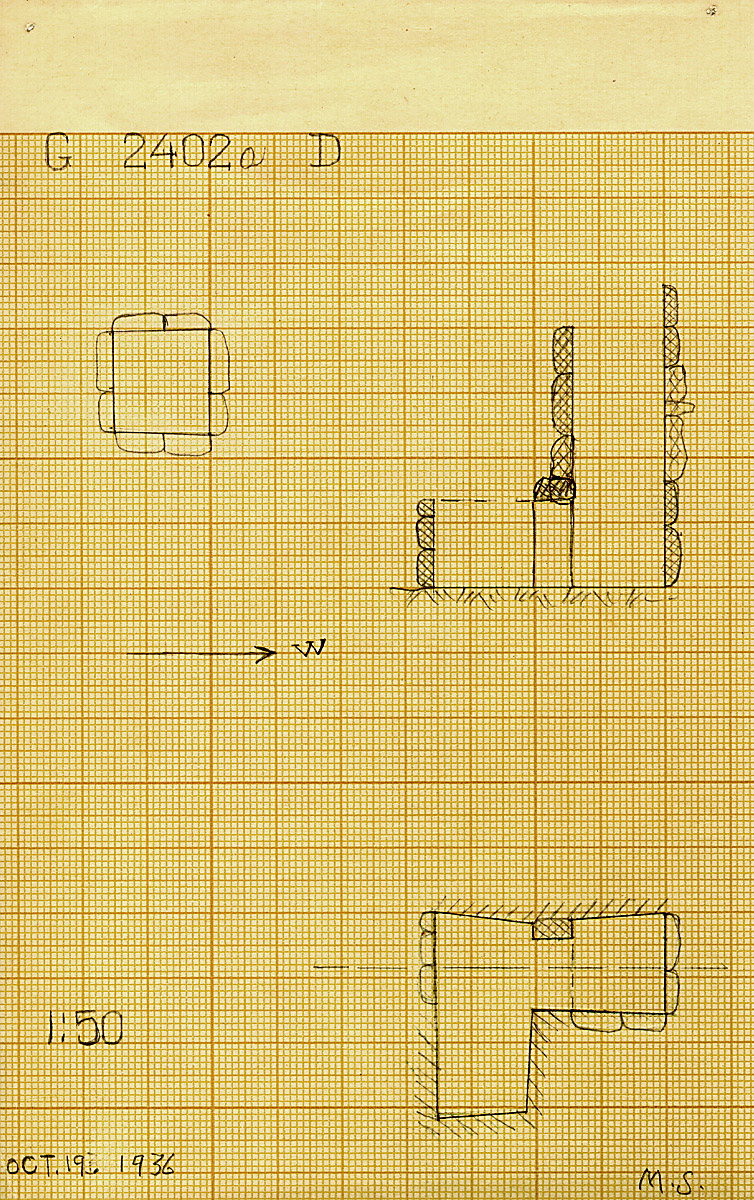Maps and plans: G 2402a, Shaft D