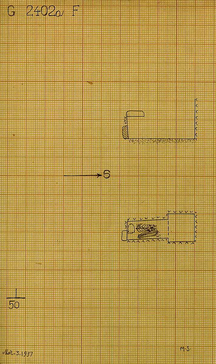 Maps and plans: G 2402a, Shaft F