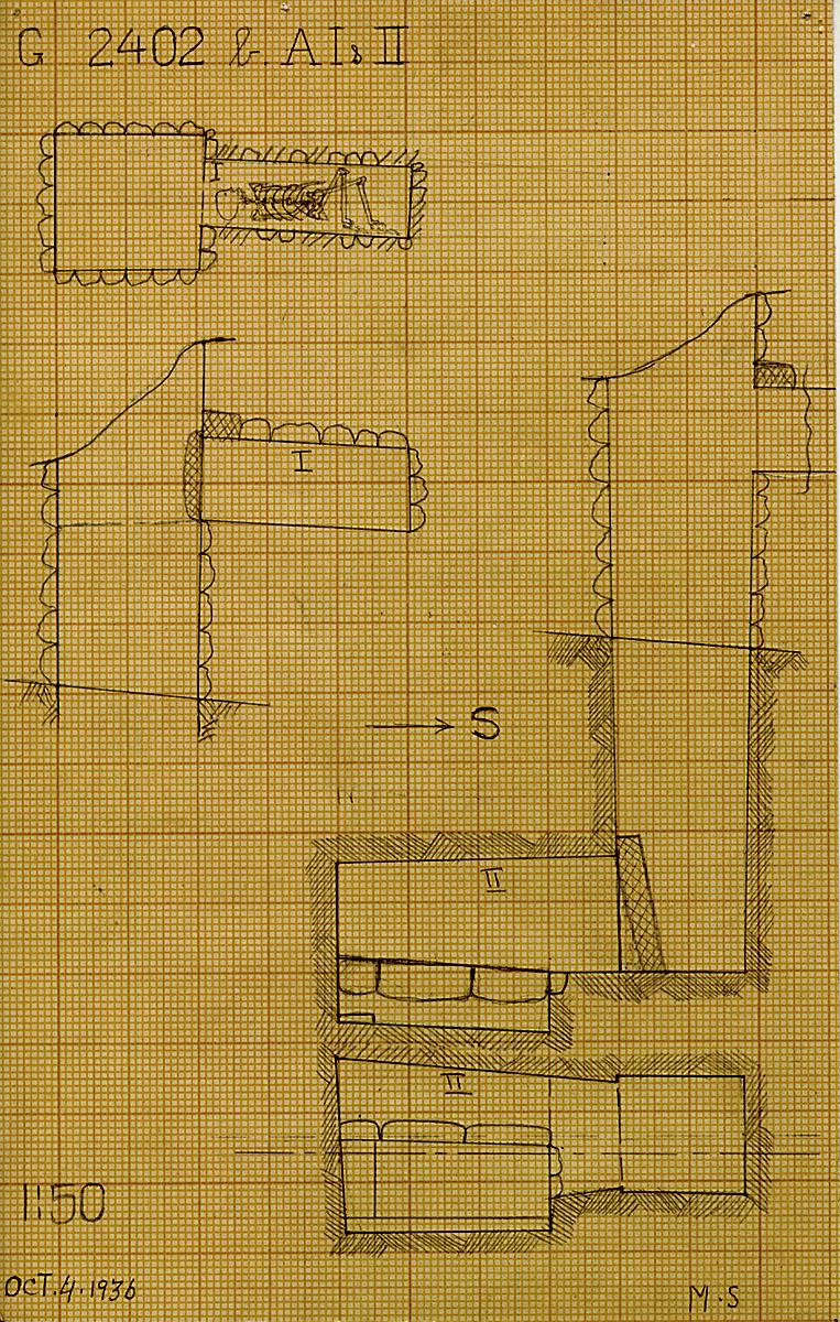 Maps and plans: G 2402b, Shaft A (I & II)