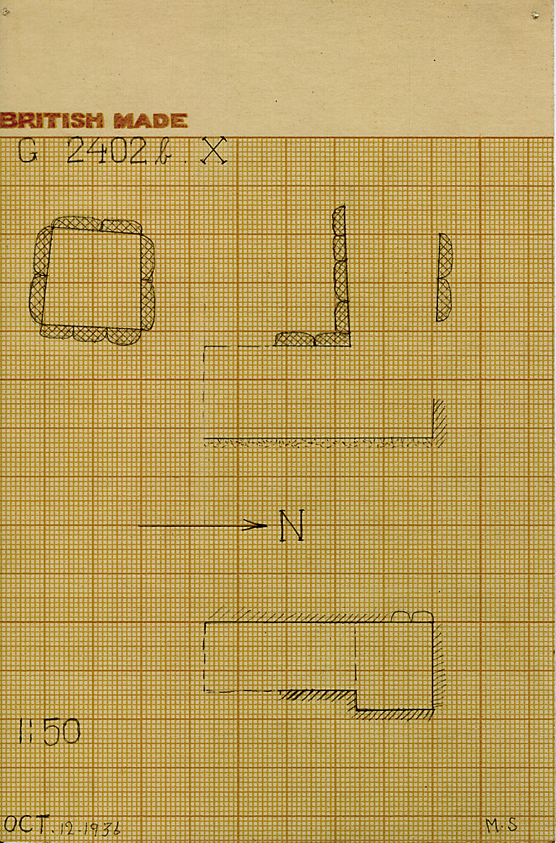 Maps and plans: G 2402b, Shaft X