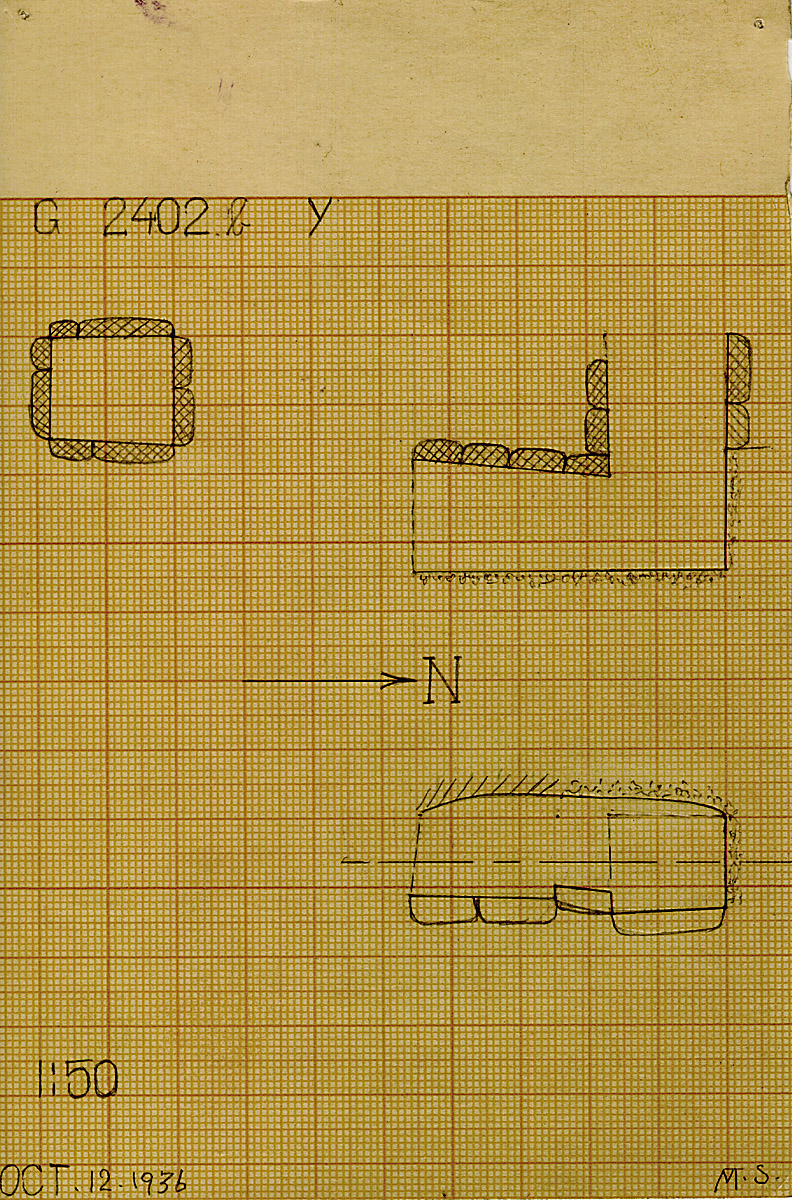Maps and plans: G 2402b, Shaft Y