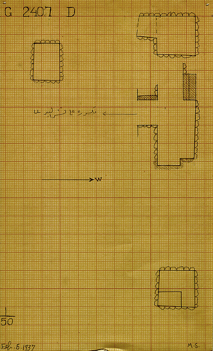 Maps and plans: G 2407, Shaft D