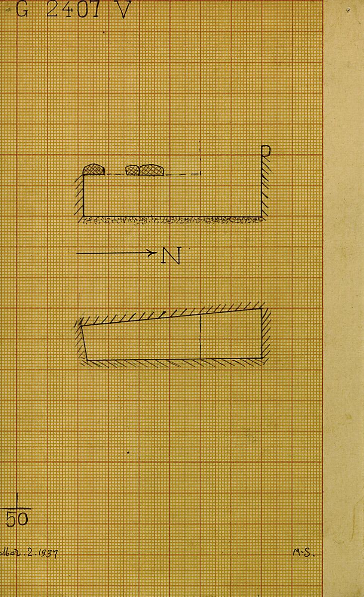 Maps and plans: G 2407, Shaft V