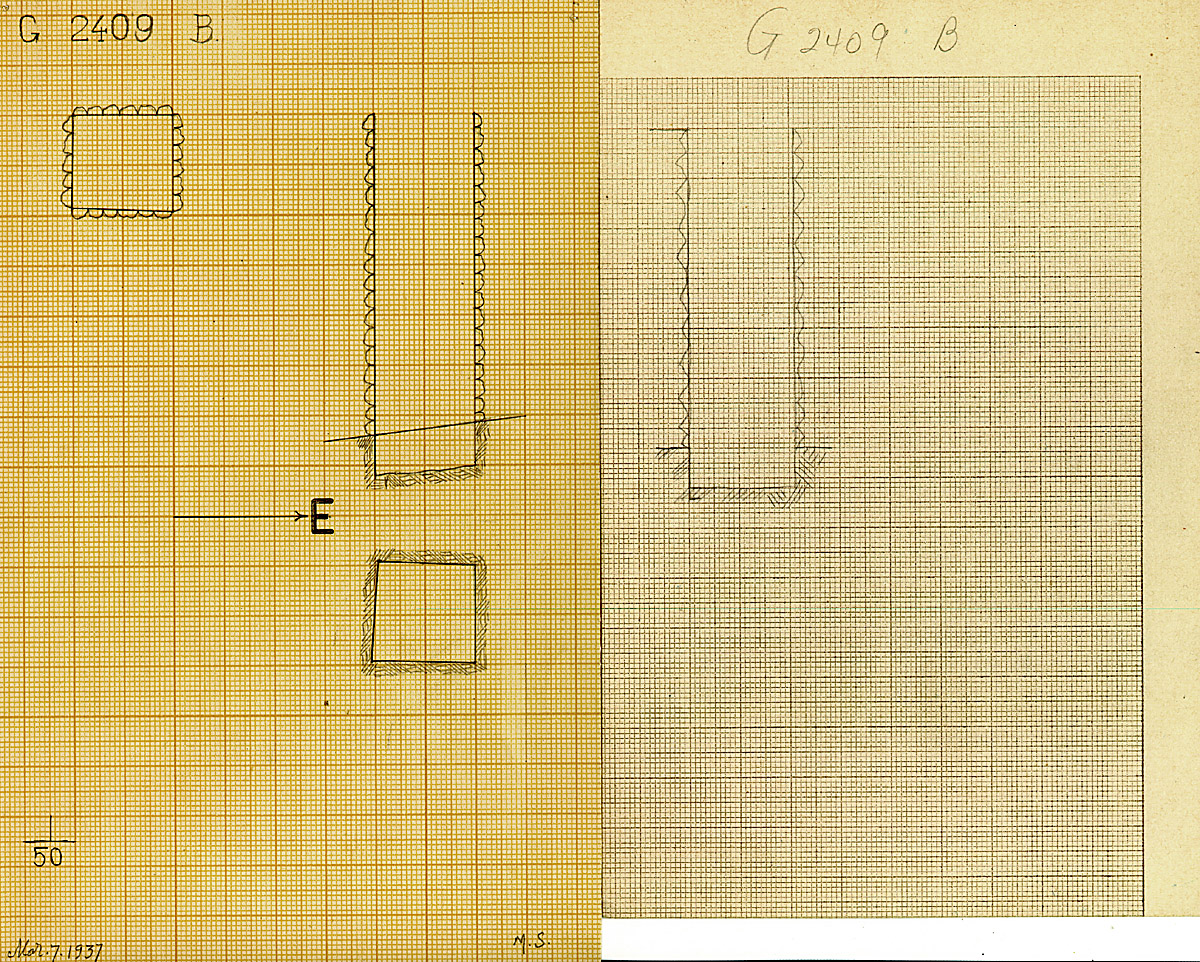 Maps and plans: G 2409, Shaft B