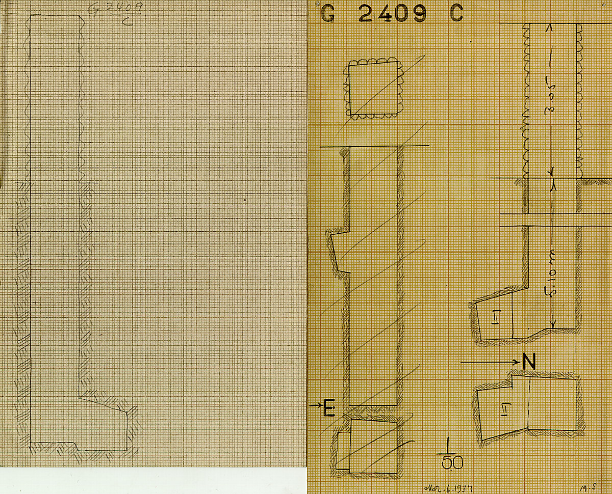 Maps and plans: G 2409, Shaft C (I & II)